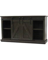 "Gracie Oaks Mihika 57"" TV Stand GRKS7179 Color: Gray"