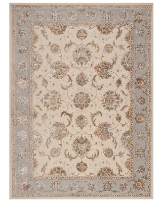 """Serenade Hand-Tufted Wool Ivory/Gray Area Rug Michael Amini Rug Size: Rectangle 3'9"""" X 5'9"""""""