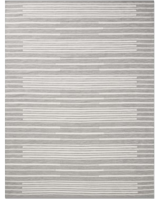 Perennials Piano Stripe Indoor/Outdoor Rug, 9x12u0027, Gray