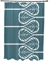 Bay Isle Home Sigsbee Fern 2 Floral Print Shower Curtain BAYI2133 Color: Teal