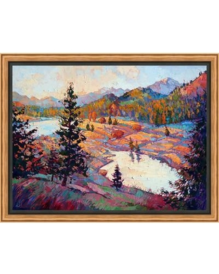 Ashton Wall Décor LLC Pools of Dawn Framed Painting Print on Wrapped Canvas 4469