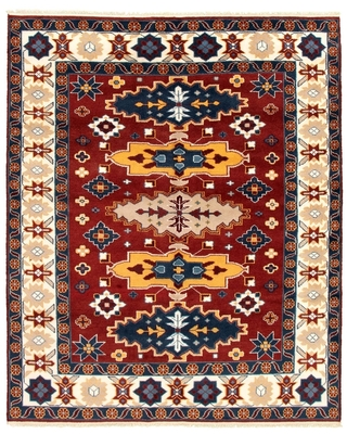 ECARPETGALLERY Hand-knotted Kazak Royal I Red Wool Rug - 8'1 x 10'6 (8'1 x 10'6 - Red)