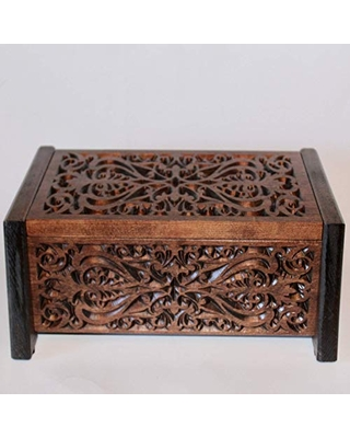 Check Out Deals On Ornate Wooden Cremation Urn Box For Adult Human Ashes