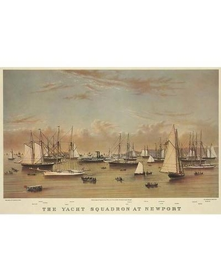 """Buyenlarge 'The Yacht squadron at Newport' Vintage Advertisement 0-587-24409-7 Size: 30"""" H x 20"""" W"""