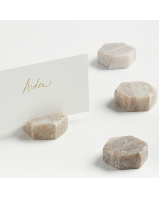 Marble Place Card Holders/Cheese Markers, Set of 4