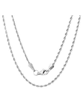 14k White Gold 1.5 mm Rope Chain Necklace ( 16-30 Inch ) (18 Inch)