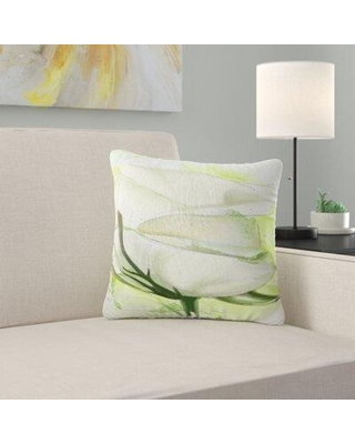 """East Urban Home Floral Roses Watercolor Sketch Pillow FUSI5539 Size: 16"""" x 16"""" Product Type: Throw Pillow"""