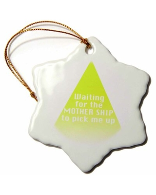 Text with Mother Ship Holiday Shaped Ornament The Holiday Aisle®