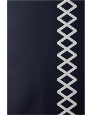 e by design Flatweave Navy Blue Area Rug RGN199BL14- Rug Size: Rectangle 3' x 5'