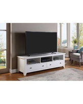 """Red Barrel Studio® Elexus TV Stand for TVs up to 78""""Wood in Brown/White, Size 22.5 H x 72.0 W x 19.5 D in 