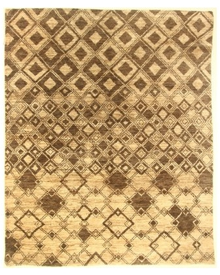 One-of-a-Kind Corbeil Hand-Knotted Brown Area Rug Isabelline