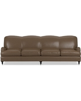 "Bedford 108"" Sofa, Standard, Italian Distressed Leather, Solid, Toffee"