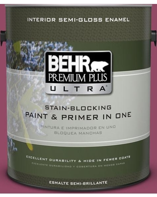 BEHR ULTRA 1 gal. #P120-7 Glitterati Semi-Gloss Enamel Interior Paint and Primer in One