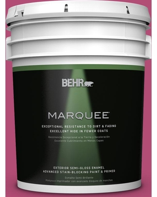 BEHR MARQUEE 5 gal. #P120-6 Diva Glam Semi-Gloss Enamel Exterior Paint and Primer in One