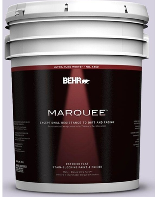 BEHR MARQUEE 5 gal. #650E-2 Lovely Lavender Flat Exterior Paint and Primer in One