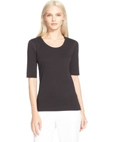 Women's Theory Pima Cotton Top, Size Small - Black