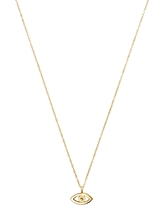Moon & Meadow 14K Yellow Gold Evil Eye Pendant Necklace, 16
