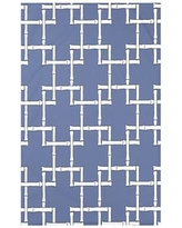 """Bay Isle Home Connelly Bamboo 1 Geometric Fleece Throw Blanket BAYI3260 Size: 60"""" L x 50"""" W x 0.5"""" D, Color: Blue"""