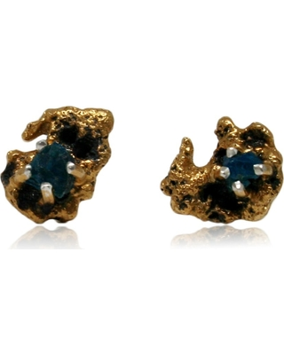 Karolina Bik Jewellery - Out Of The Sea Earrings With Raw Apatite