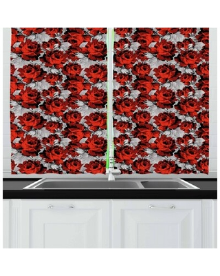 Floral Kitchen Curtain East Urban Home