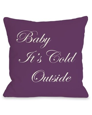 Tavion Baby It's Cold Outside Reversible Throw Pillow