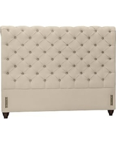 Chesterfield Upholstered Headboard, Full, Twill Parchment