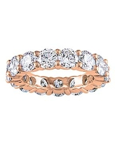 Golden Moon Women's Rings Rose - Cubic Zirconia & 14k Rose Gold-Plated Pave Ring