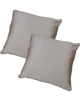 Winston Porter Wyndmoor Dot Embroidery Throw Pillow BF149106 Color: Pewter Stone