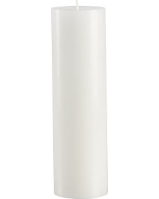 Unscented Pillar Candles, White - 3 x 10
