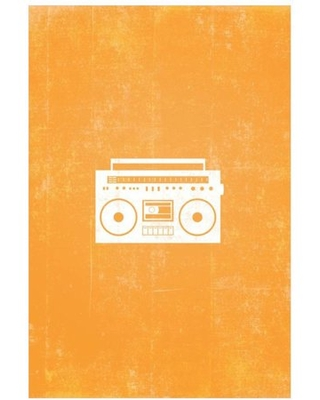 Boombox Silhouette Art by Eazl Premium Gallery Wrap