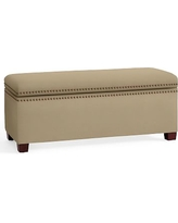 Tamsen Upholstered Storage Bench, Performance Everydaysuede(TM) Light Wheat