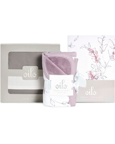 Oilo Bella Crib Skirt, Cuddle Blanket & Fitted Crib Sheet Set, Size One Size - Purple