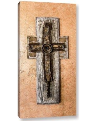"""Bloomsbury Market 'Cross In Mexico' Painting Print On Wrapped Canvas BLMT4107 Size: 12"""" H x 6"""" W x 2"""" D"""