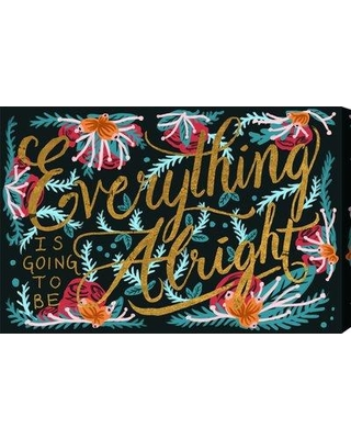 """Art Remedy 'Alright' Graphic Art Print on Canvas BL13528_ Size: 40"""" H x 60"""" W x 1.5"""" D"""