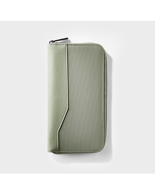RFID Travel Wallet Olive - Open Story , Green