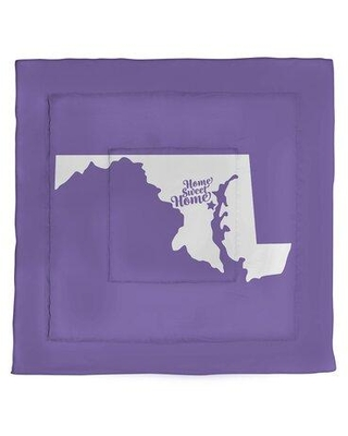 East Urban Home Home Sweet Annapolis Microfiber Comforter - King Size EBJF1726 Size: King Color: Purple