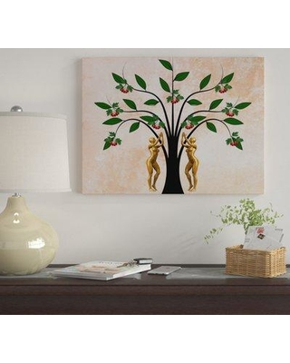 """Winston Porter 'Forbidden Fruit' Graphic Art Print on Wrapped Canvas WNST7161 Size: 14"""" H x 19"""" W"""
