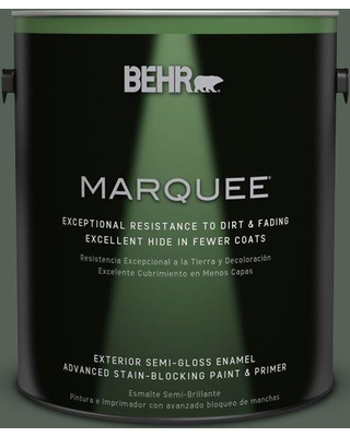 BEHR MARQUEE 1 gal. #MQ6-14 Northern Glen Semi-Gloss Enamel Exterior Paint and Primer in One