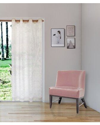 New Deal For Darby Home Co Manila Laurel Nobilis Floral Flower Sheer Single Curtain Panel Size Per Panel 55 W X 84 L Cotton Blend In White Size 95 H X 55 W