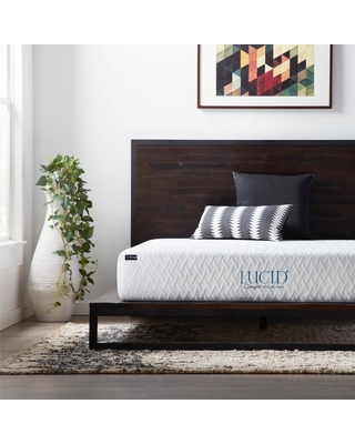 Lucid Comfort Collection 10in. Firm Gel Memory Foam Tight Top Full Mattress
