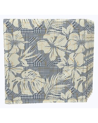"""Napkin Set, 100% Milliken Polyester, Machine Washable, Set Of 12, 18X18"""", Hibiscus Houndstooth Fabric Textile Products, Inc."""
