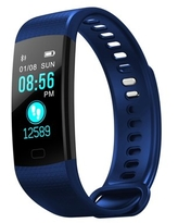 Fitness Tracker HR, fitness tracker with blood pressure monitor, Smart Fitness Band with Step Counter, Calorie Counter, Pedometer color screen (BLUE)