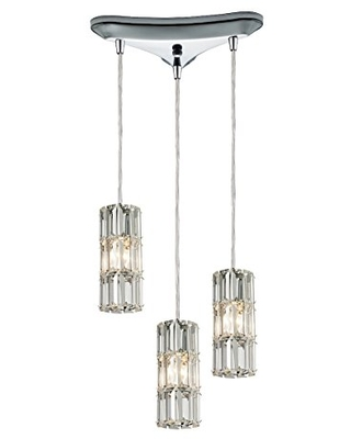 """Elk Lighting 31486/3 Cynthia Collection 3 Light Chandelier, 1 1 8"""", Polished Chrome"""