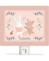 Oopsy Daisy Personalized Bunny and Bear Dancers Canvas Night Light NB62256
