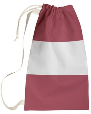 """Arkansas Laundry Bag East Urban Home Size: Small (29"""" H x 18"""" W x 1.5"""" D), Color: Red/White/Red"""