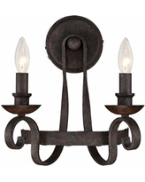 """Quoizel Noble 13"""" High Rustic Black Wall Sconce"""