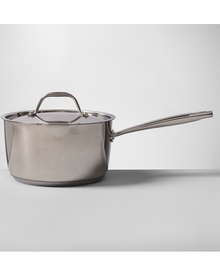 Stainless Steel Covered Saucepan 3qt - Made By Design