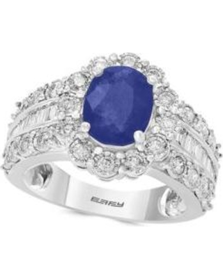 Effy White Gold 1.9 ct. t.w. Sapphire and 0.94 ct. t.w. Diamond Ring in 14k White Gold