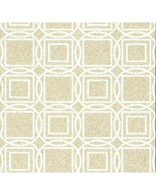 "York Wallcoverings Organic Labyrinth 27' L x 27"" W Wallpaper Roll LC71 Color: Beige"