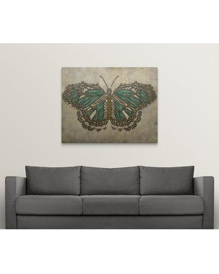 "Great Big Canvas 'Lace Wing II' Chariklia Zarris Painting Print 2058672_1 Size: 38"" H x 48"" W x 1.5"" D Format: Canvas"